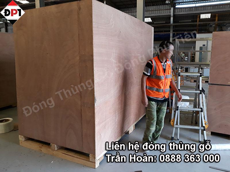 Quá trình đóng thùng gỗ xuất khẩu chất lượng